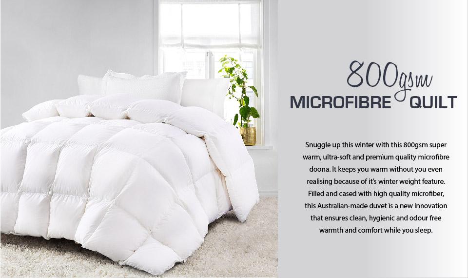 QUEEN 500GSM Microfibre Duvet Quilt Doona WINTER WEIGHT